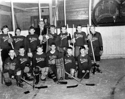 Whitby Mercantile Hockey Team, C. 1957.
