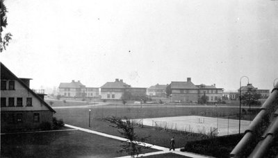 View of Ontario Hospital Cottages from Nurses Residence C. 1929.