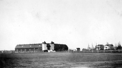 Ontario Hospital Barn and Houses on Farm Road, 1929.