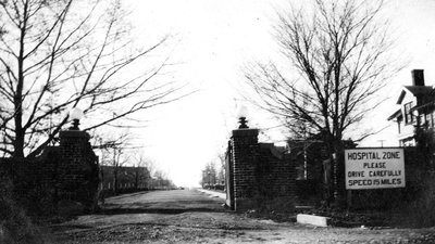 Entrance to Staff Cottages at the Ontario Hospital, April 1930.