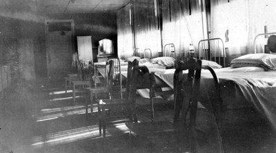 Interior of Nurses Dormitory, May, 1929.