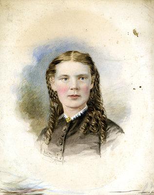 Miss Jessie B. Thornton (1847-1869), c. 1860.