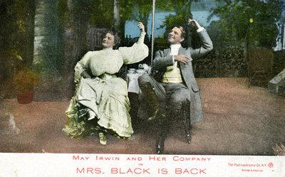 May Irwin 'Mrs Black is Back' Postcard