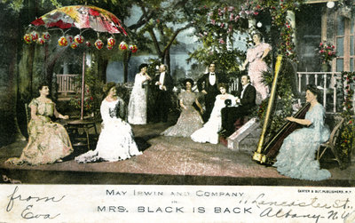 May Irwin Mrs. Black is Back Postcard