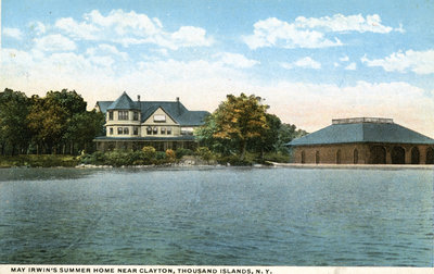 Postcard of May Irwin's Summer Home