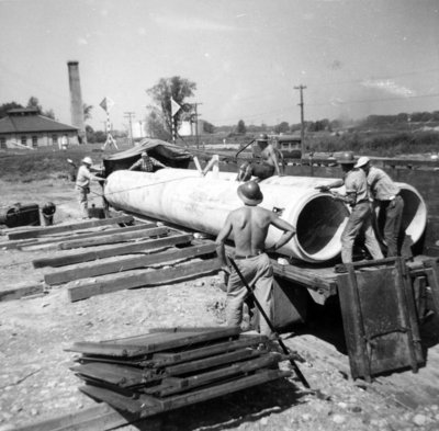 Water Intake Pipe Installation, 1953