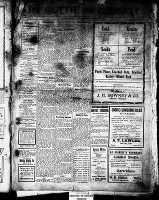 Calendar for 1912