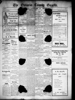 Calendar for 1898