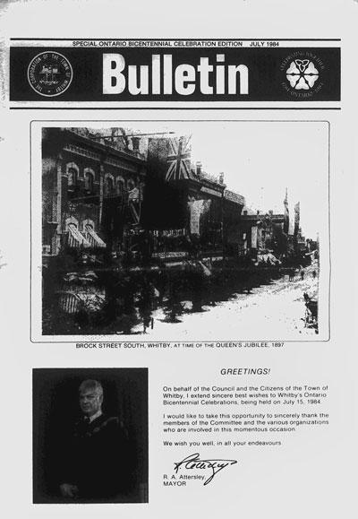 Bulletin - Special Ontario Bicentennial Edition