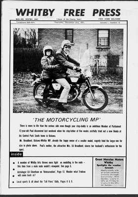 Whitby Free Press, 2 Dec 1971