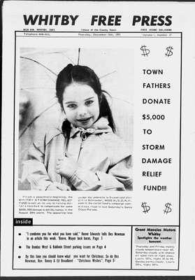 Whitby Free Press, 16 Dec 1971