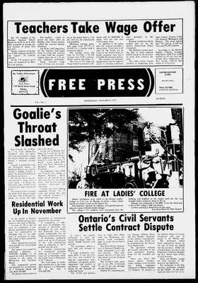 Whitby Free Press, 8 Jan 1975
