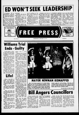 Whitby Free Press, 22 Jan 1975
