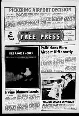 Whitby Free Press, 26 Feb 1975