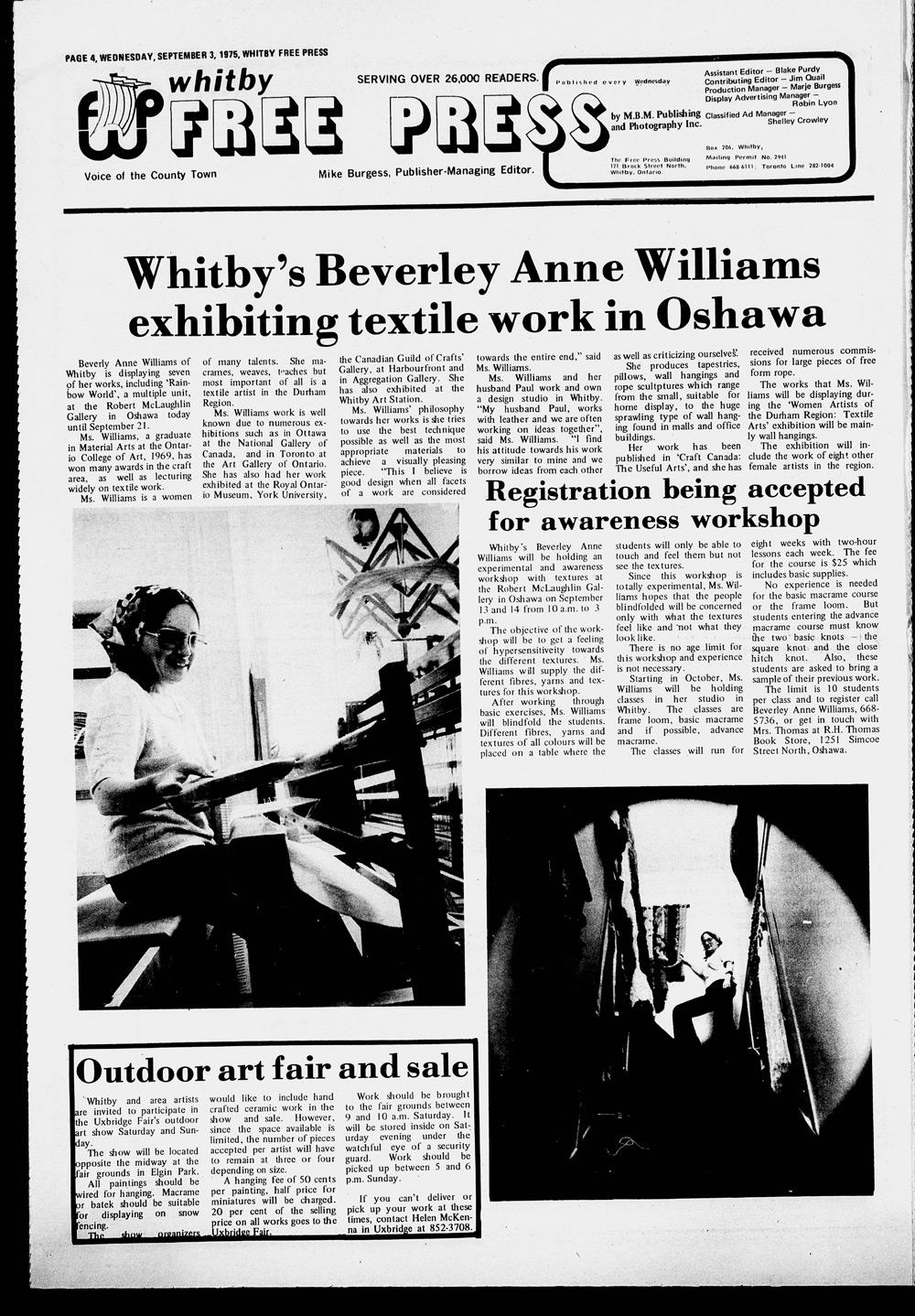 Whitby Free Press, 3 Sep 1975