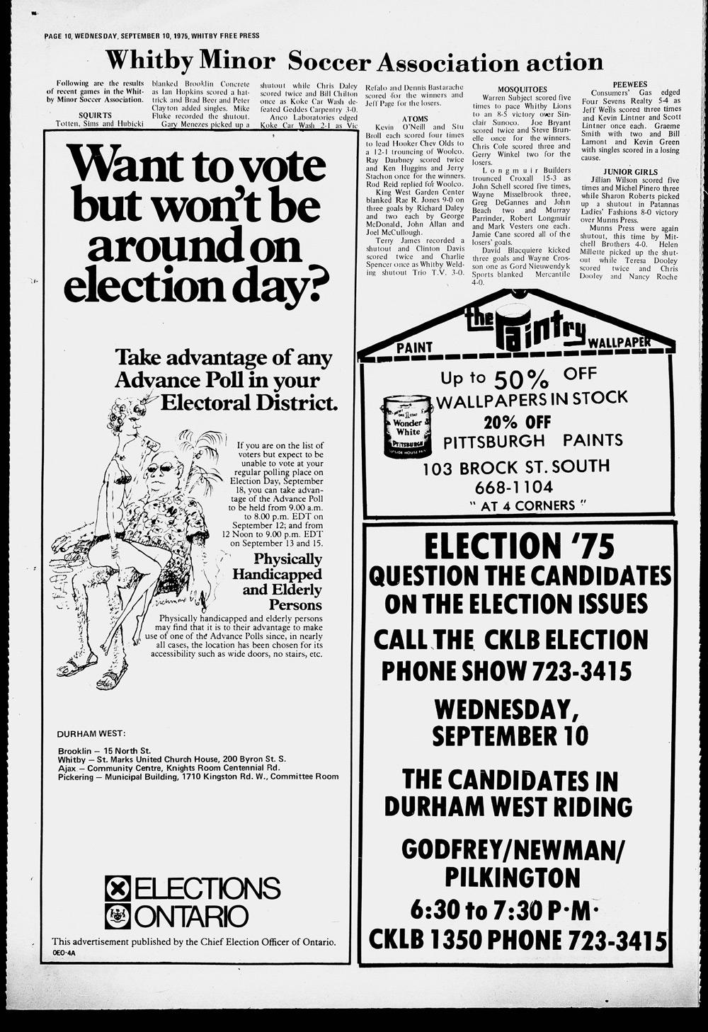 Whitby Free Press, 10 Sep 1975