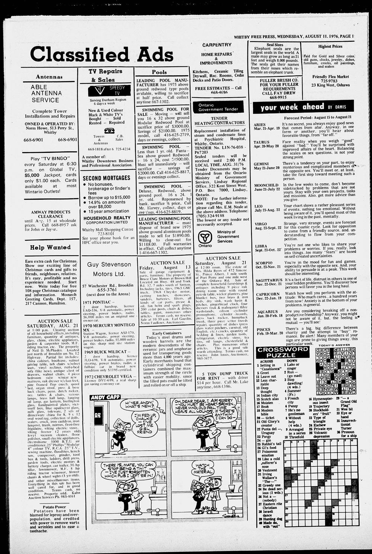 Whitby Free Press, 11 Aug 1976