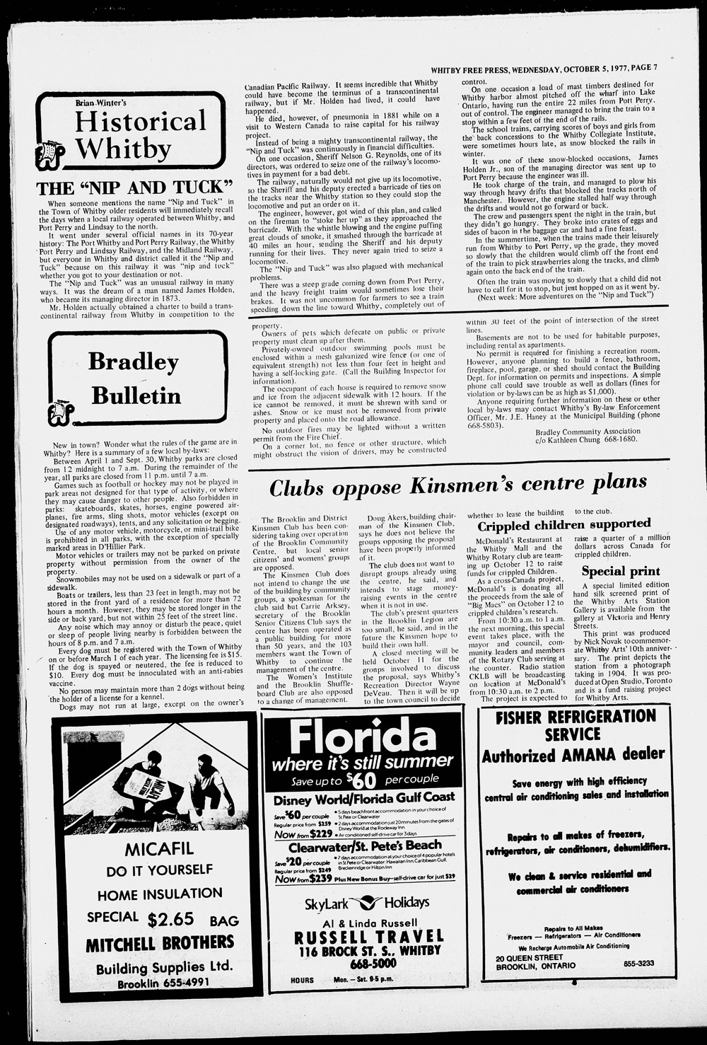 Whitby Free Press, 5 Oct 1977
