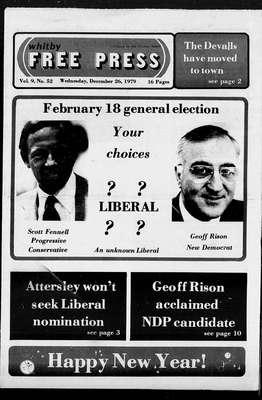 Whitby Free Press, 26 Dec 1979