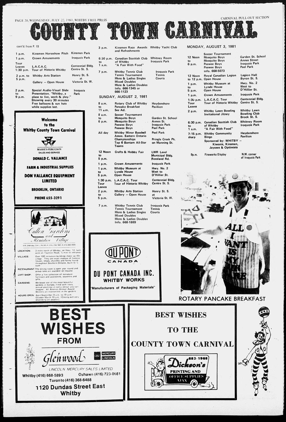 Whitby Free Press, 22 Jul 1981