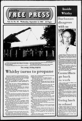 Whitby Free Press, 2 Sep 1981