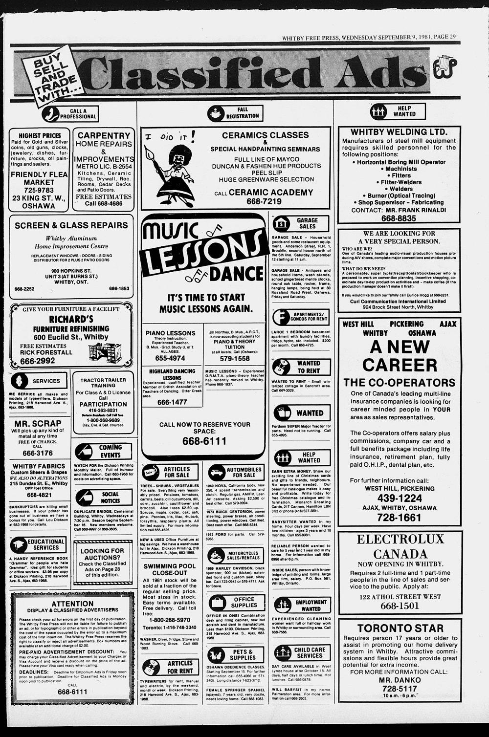 Whitby Free Press, 9 Sep 1981