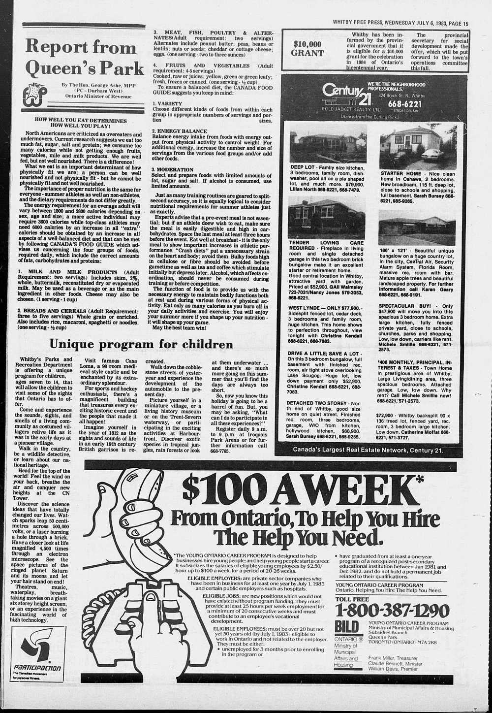 Whitby Free Press, 6 Jul 1983