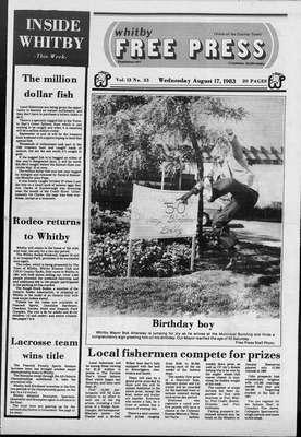Whitby Free Press, 17 Aug 1983
