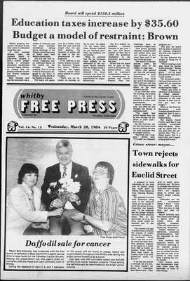 Whitby Free Press, 28 Mar 1984