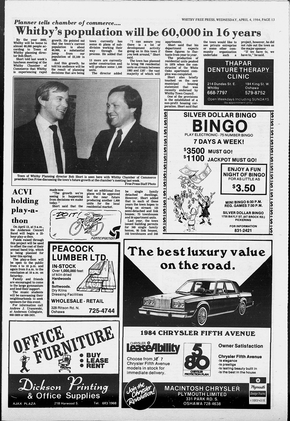 Whitby Free Press, 4 Apr 1984