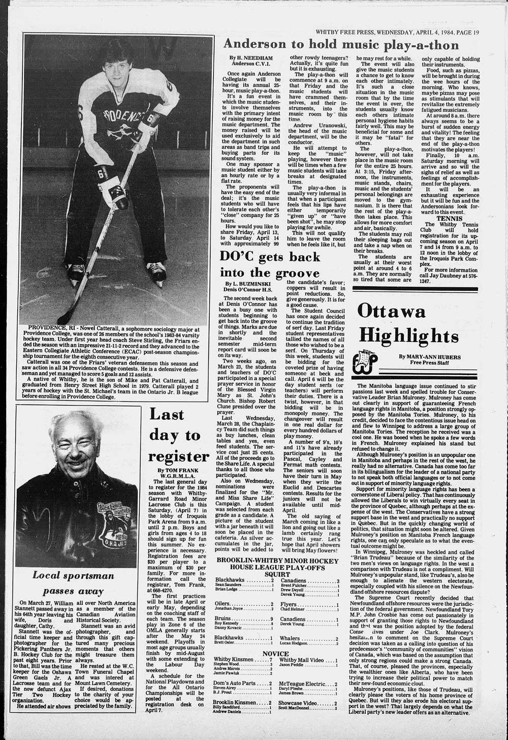 Whitby Free Press, 4 Apr 1984
