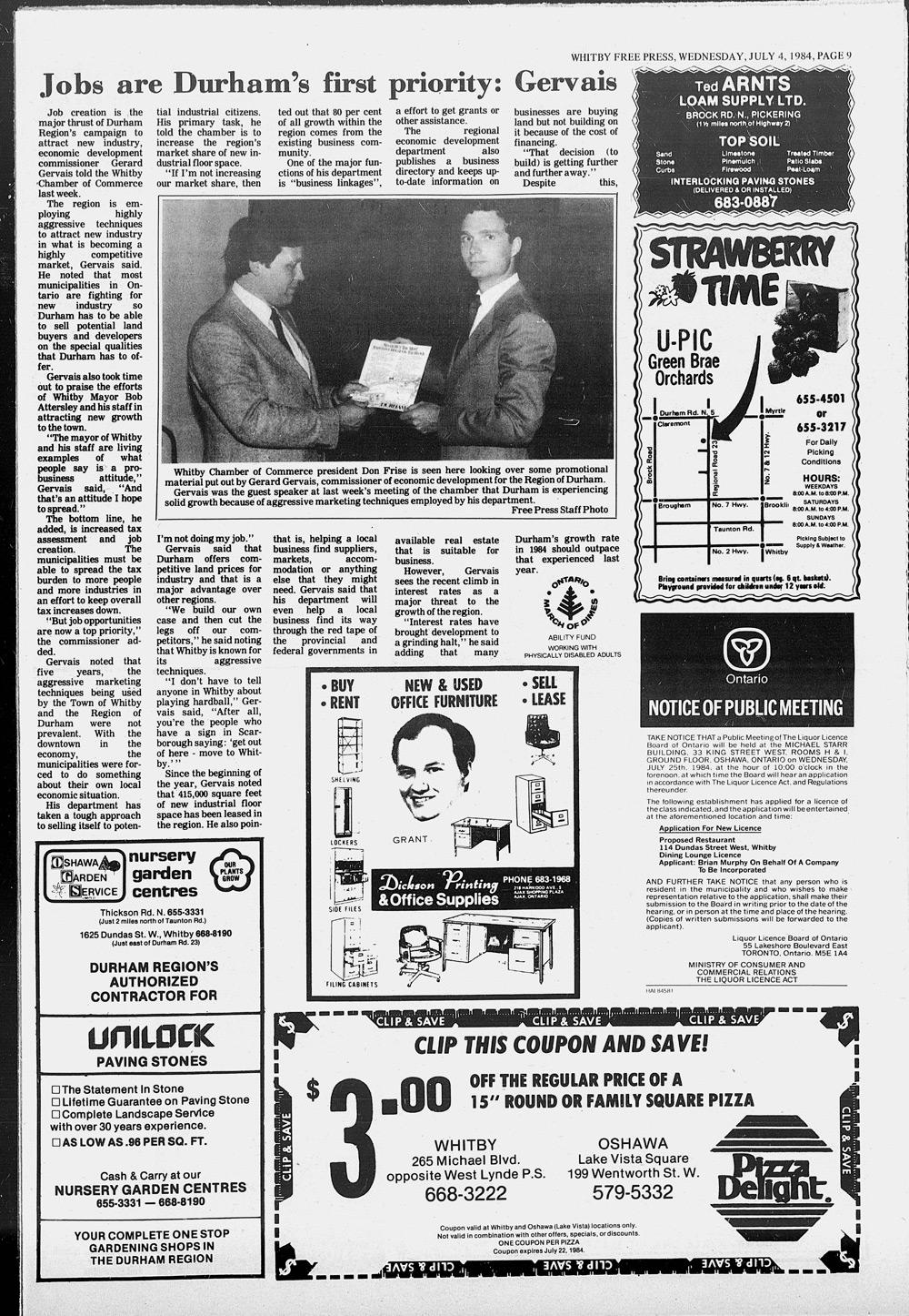 Whitby Free Press, 4 Jul 1984