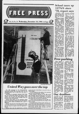 Whitby Free Press, 19 Dec 1984