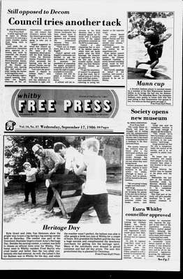 Whitby Free Press, 17 Sep 1986