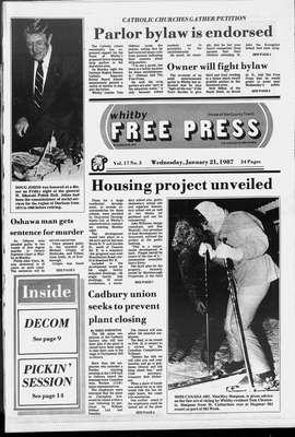 Whitby Free Press, 21 Jan 1987