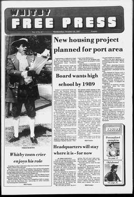 Whitby Free Press, 28 Oct 1987