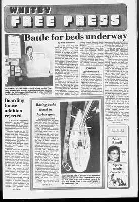 Whitby Free Press, 18 Nov 1987