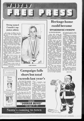 Whitby Free Press, 2 Dec 1987