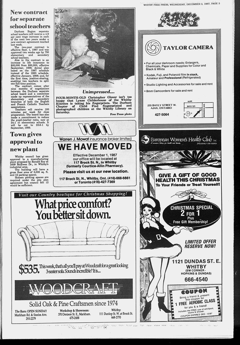 Whitby Free Press, 2 Dec 1987