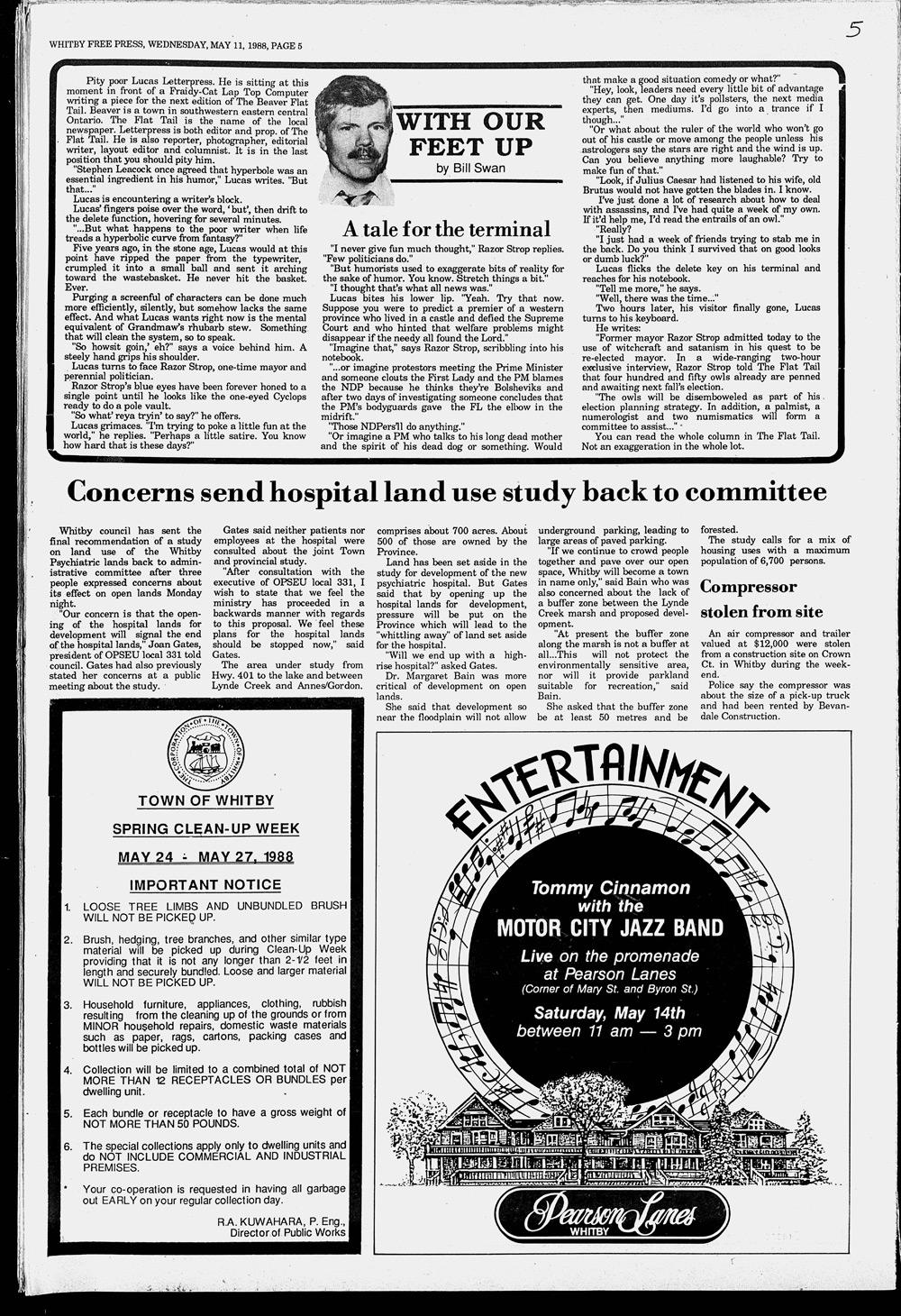 Whitby Free Press, 11 May 1988
