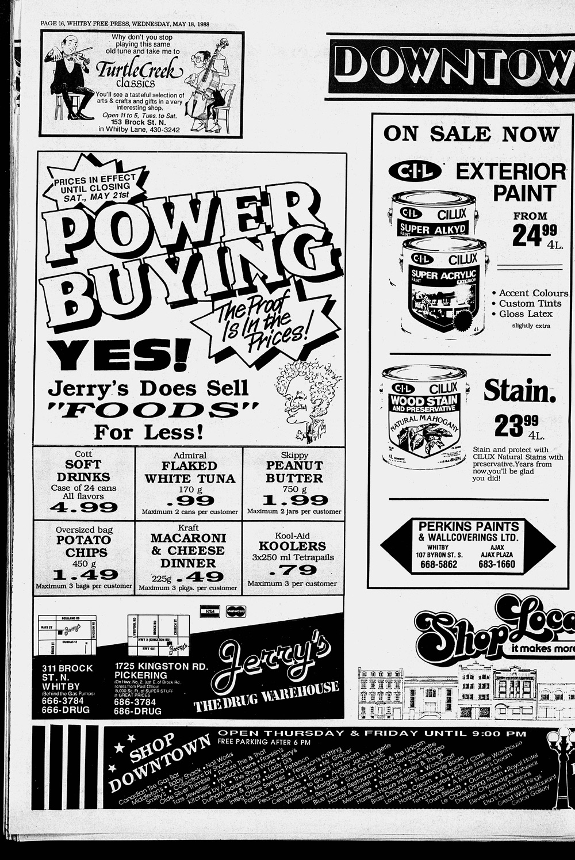 Whitby Free Press, 18 May 1988