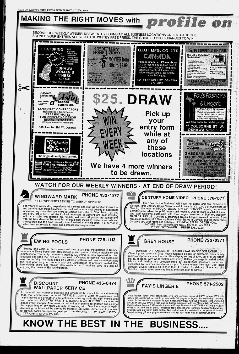 Whitby Free Press, 6 Jul 1988