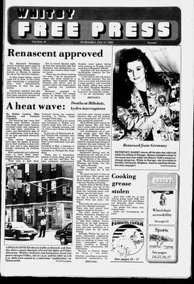 Whitby Free Press, 13 Jul 1988