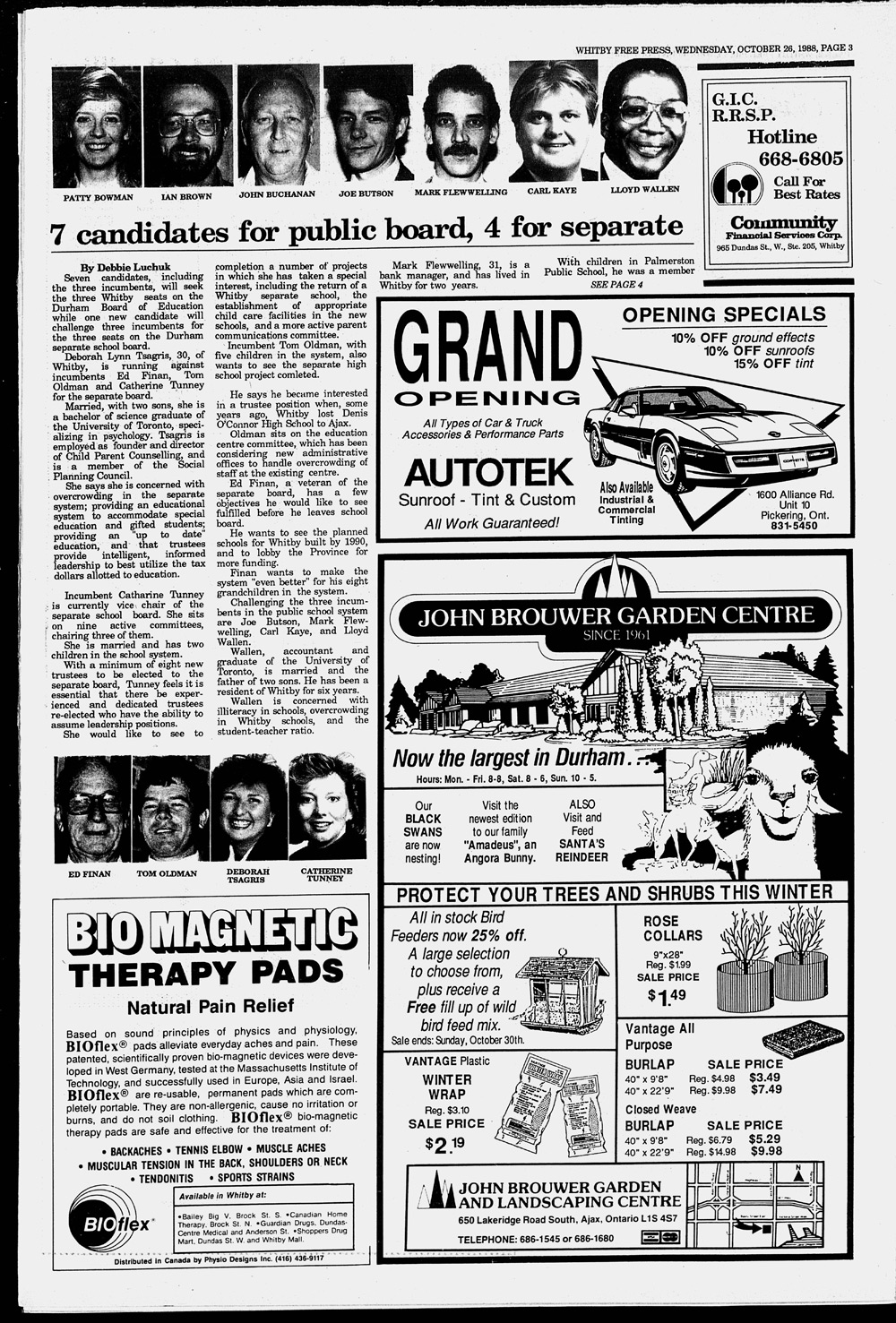 Whitby Free Press, 26 Oct 1988
