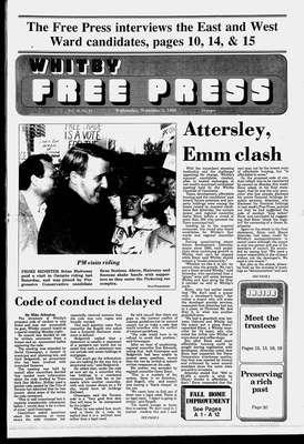 Whitby Free Press, 2 Nov 1988