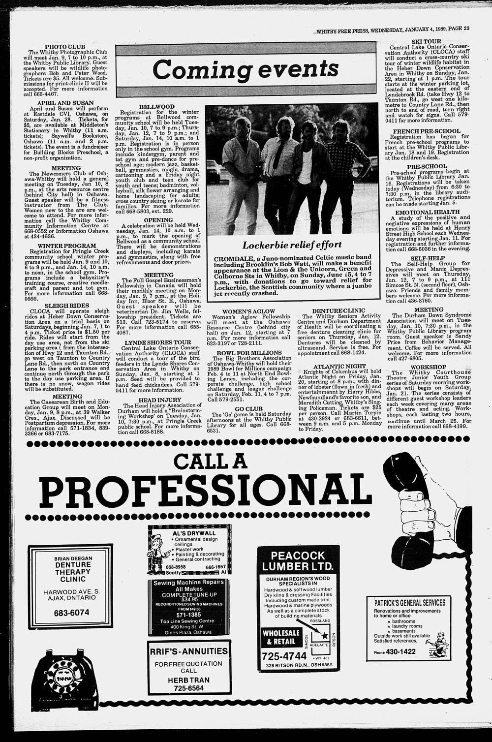 Whitby Free Press, 4 Jan 1989