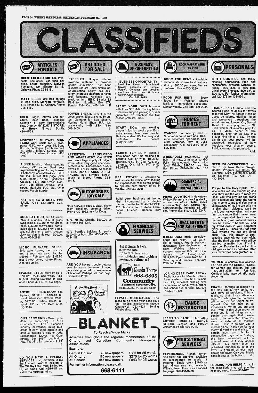 Whitby Free Press, 22 Feb 1989