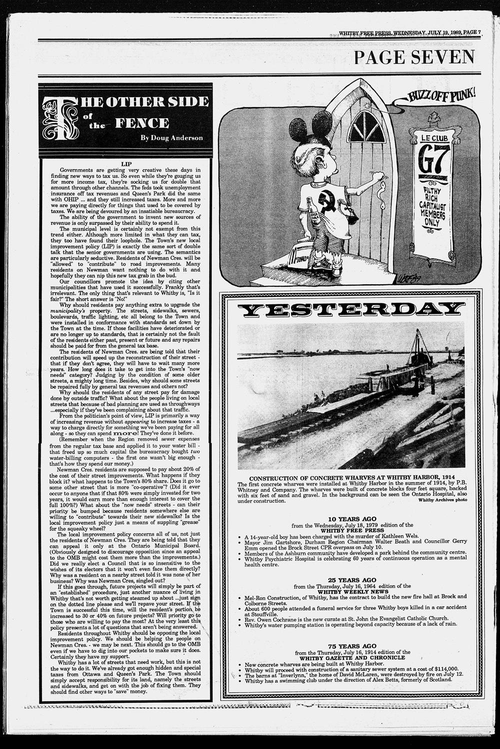 Whitby Free Press, 19 Jul 1989