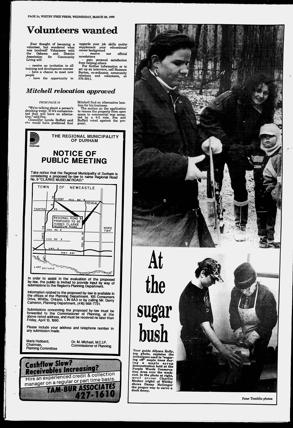 Whitby Free Press, 28 Mar 1990