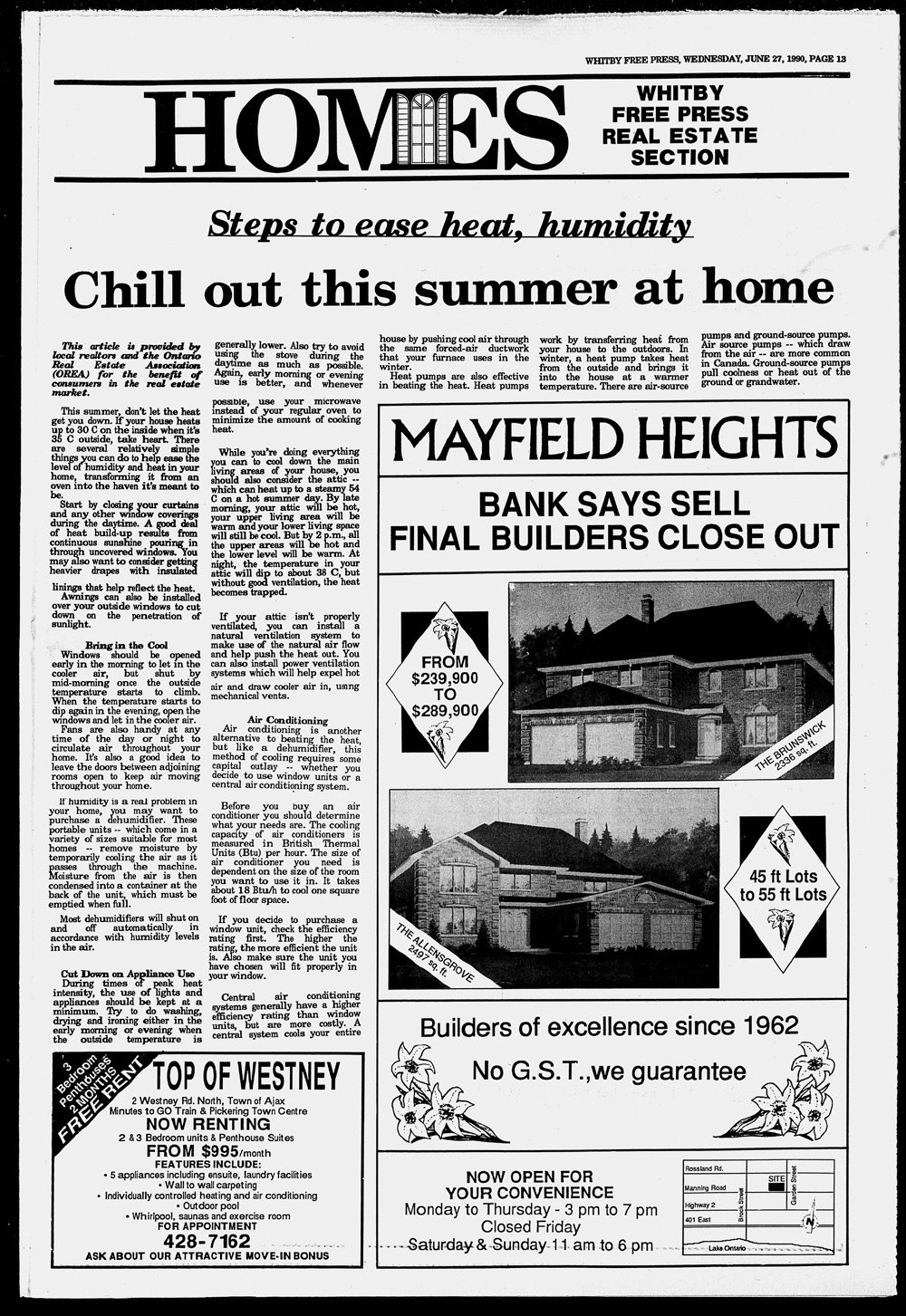 Whitby Free Press, 27 Jun 1990